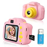 Rindol Toys for 4-9 Year Old Girls,Kids Camera Compact for Child Little Hands, Smooth Shape Toddler...