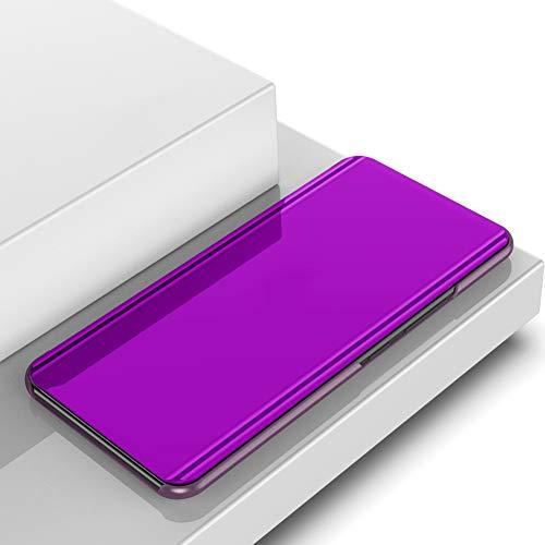 Yoodi Capa para Huawei Nova 3, capa flip espelhada ultrafina com suporte galvanizado capa de proteção para Huawei Nova 3 - Roxo