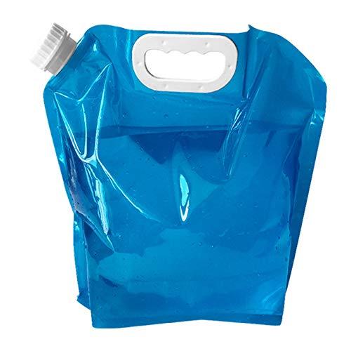adad Campinggeschirr-Wasserkanister Faltbarer Wasserspeichertank Tragbare Wasserspeichertasche Reise Outdoor Sport Wasserspeichertank (Color : Blue, Size : 5L)