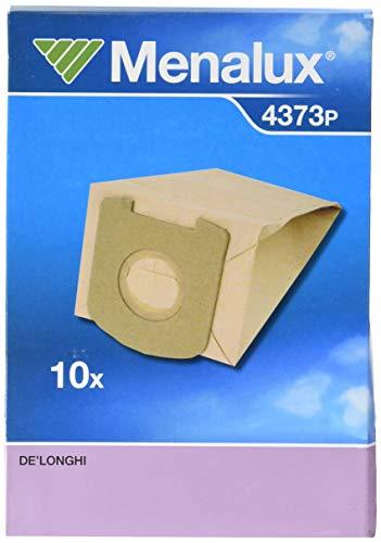 Menalux 4373 P - Sacchetti per aspirapolvere in carta per De Longhi, Colombina e Classe A, 10 pezzi