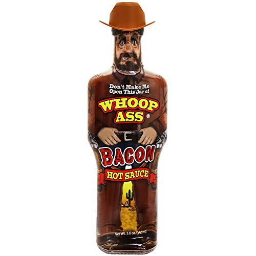 WHOOP ASS Grilling BBQ Bacon Hot Sauce – Try if you dare! – Perfect Gourmet Gift for the Steak Sauce Fan