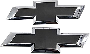 Guzetop Front & Tailgate Bowtie Emblem for 2016-2019 Chevy GM Silverado 1500