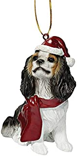 Design Toscano Christmas Ornaments - Xmas King Charles Cavaliers Holiday Dog Ornaments