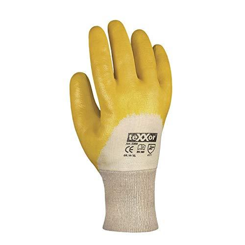 1 Paar, Nitril Handschuhe, Nitril-gelb, Gr. 10 (XL), Cat.2 EN420 EN388