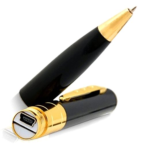 Spy Pen - Camera In Pen - Mini HD Hidden & Secret Spy Cam Pen Video Recorder USB DVR Wireless Surveillance Spy Camera - Rec 720p HD90 Lens Pens Cameras - Best Real Spy Gear for Kids & Adults Sold on Amazon w/ Exclusive Lifetime Warranty by Sherlock Hones