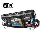 YOUANDMI Dashcam,2160P UHD WiFi GPS Avant et Arriere Double 170 Degré Grand Angle Voiture Camera Surveillance avec Sony WDR Vision Nocturne,ADAS,Loop Recording,Capteur-G