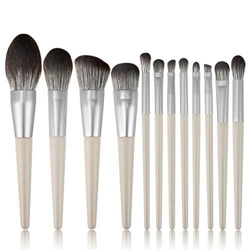 Maquillage Brosse De Fibre Contour Cheveux Pinceau Blush Ombre À Paupières Pinceau De 12 Pièces Sourcils Ensemble Pour Le Maquillage Usage Quotidien