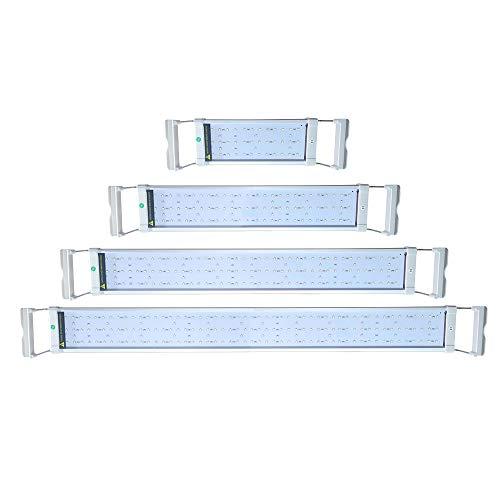 Fscm Aquarium LED Beleuchtung 42 LEDs 6W RGB und Blaulicht Aufsetzleuchte Wasserdicht Lampe Lighting mit 1.5m EU Stecker Verstellbarer Halterung für 30-50cm Fisch Tank Korallenwasserpflanzen