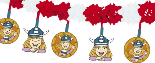 Wickie Comic Wikinger Motiv Girlande Kinderparty Kindergeburtstag