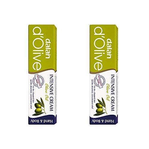 Dalan D'Olive Olivenöl Hand & Körper Feuchtigkeitscreme (Intensiv) 20ml - Packung mit zwei