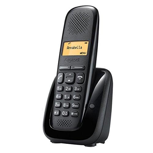 Gigaset A150 - Teléfono (Teléfono DECT, Terminal inalámbrico, 50 entradas, Identificador de Llamadas, Negro)