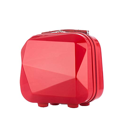 zyl Hard Shell Vanity Make Up Beauty Case Suitcase ABS Luggage Case,RedB-33CM*26CM*16