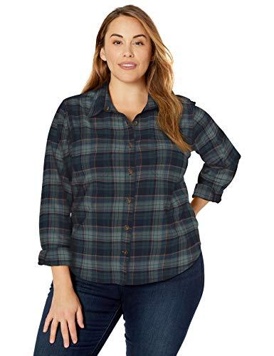 Carhartt Women's Rugged Flex Hamilton Shirt (Regular and Plus Sizes), Midnight, XX-Large