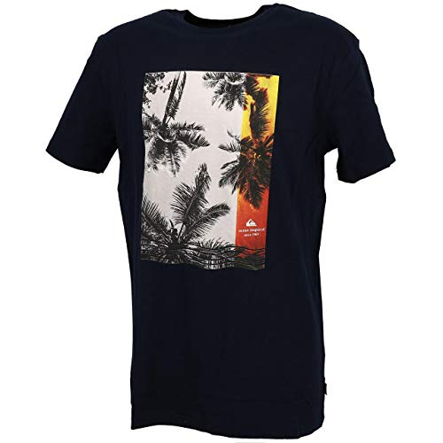 Quiksilver Herren Screen Tee Parallel Lives - T-Shirt Für Männer, Navy Blazer, M, EQYZT05741