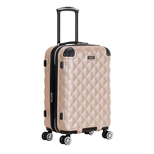 Kenneth Cole Reaction Diamond Tower Luggage Collection Lightweight Hardside Expandable 8-Wheel Spinner Travel Suitcase, Rose Champagne, 20-Inch Carry On