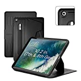 ZUGU CASE for iPad 10.2 Inch 7th / 8th / 9th Gen (2021/2020/2019) Protective, Thin, Magnetic Stand, Sleep/Wake Cover - Black (Model #s A2197 / A2198 / A2200 / A2270 / A2428 / A2429 / A2430)