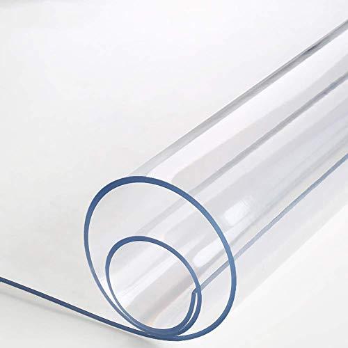 YUBIN Cubierta de Tabla de PVC a Prueba de arañazos, Protector de Mesa a Prueba de Agua de 1.5 mm Tablón de Limpieza Limpio fácil de Limpieza de Tela Limpia para el hogar Oficina-Flor 80x150cm (31x59