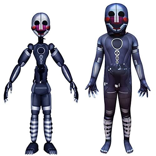 Wekoyaee Kids Puppet Costumes Five Nights Bodysuit Scary Halloween Jumpsuits
