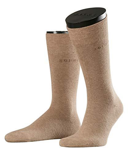 ESPRIT Herren Socken, Basic Uni 2-pack M So- 17811, 2er Pack, Braun (Nutmeg Melange 5410), 43-46