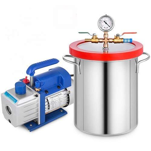 OldFe 220V Unterdruckpumpe Vakuumgeräte Pumpe 4 CFM Vakuumpumpe Unterdruckpumpe1720 U Refrigerant Vacuum Pump