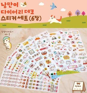 Bureau creatieve schattige kat PVC Sticker voor doe-het-zelf Scrapbooking dagboek telefoon Sticker producten ontwerp Paster Kawaii Stationaire Album Stickers
