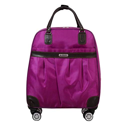 Adlereyire Laptop Trolley Bag Large-Capacity Stylish Lightweight Duffel Bag Convenient Rollers Waterproof Wear-Resistant Protection (Color : Purple, Size : 442249cm)