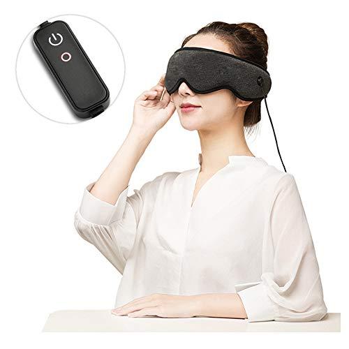 Slaapmasker Voor Dames En Heren, Verwarm Het 3D-oogmasker Voor Slapen, USB-magneet Heet Kompres, Waterdicht, Oogschaduwhoes, Reizen/Dutjes/Vliegtuig/Nachtrust
