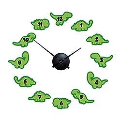"Playtime Clocks Children's Kids Room Dinosaur Wall Clock, 24""-32"""