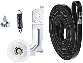 UPGRADED Pulley Belt Parts for samsung Dryer, 6602 001655 Dryer Belt and DC93-00634A Idler Pulley [Enhanced ],DC61-01215B Tension Spring,Replacement dv45h7000ew,dv48h7400ew,dv42h5000ew,dv48j7700ew