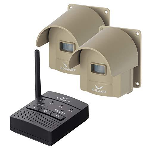 Hosmart Rechargable 1/2 Mile Long Range Wireless Driveway Alarm System Outdoor...