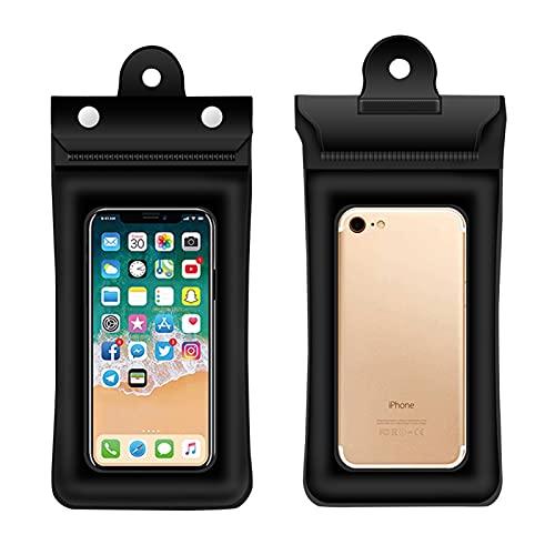 CZWNB Resbalón del Teléfono a Prueba de Agua, Bolsa Impermeable del teléfono móvil, Bolso Inflable, Flotante, Impermeable, Seguro, Sellado, a la Deriva, natación, General (Size : 1black)