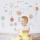 LSMYM Cartoon Hot air balloon series Wall Stickers Kids room Kindergarten Baby room Wall Decals DIY Art MuralsA 72X105cm