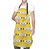 Anime Grembiule Minions 4 (1) adulto impermeabile grembiule con tasca lavabile in lavatrice cucina BBQ grembiule 71,1 x 83,8 cm