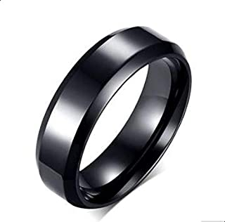 Ring Unisex Black of Bllona Size 7