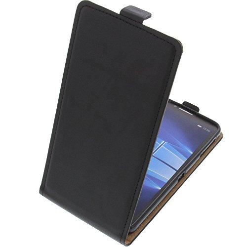 foto-kontor Tasche für Alcatel One Touch Idol 4 Pro Smartphone Flipstyle Schutz Hülle schwarz