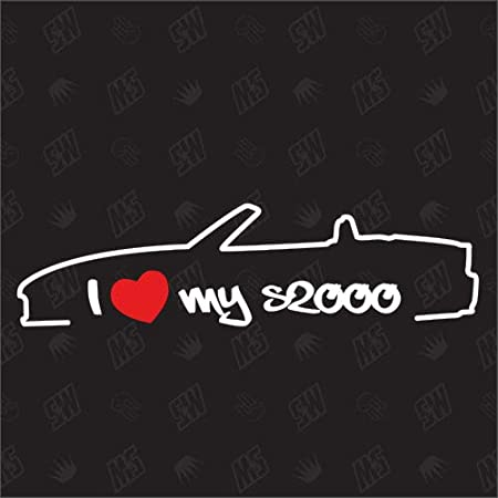 Speedwerk Motorwear I Love My Crx Eh6 Eg2 Sticker Für Honda Bj 92 98 Auto