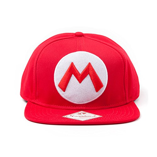 Nintendo Snap Back Cap with M Logo in front, rot