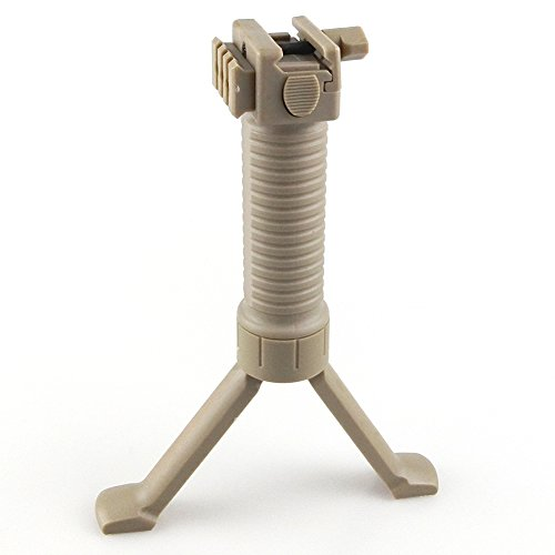 ATAIRSOFT WorldShopping4U Manico per tiro tattico Extra Side Rail Airsoft Easy Button Bipod Fit 20mm RIS DE