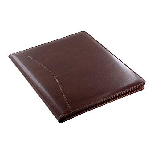 Royce Leather Shiny Leather Writing Portfolio, Writing Pad, Presentation Fold.