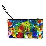 ClownFish Monedero vintage colorido bajo el mar Medusas de lona con cremallera bolsas de maquillaje de lona regalo para mujeres