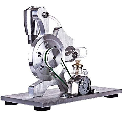 HPDOV Mini Motor Stirling de Aire Caliente generador de energía eléctrica máquina con LED luz Juguete Educativo para experimentación física