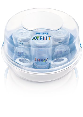 Philips Avent Microwave Steam Sterilizer for Baby Bottles, Pacifiers, Cups, and More