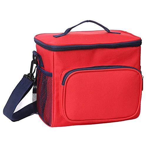 AINY Can Cooler Bag Lunch Bag, Cooler Bag Insulated, Small Cooler Bag with Liner A Prueba De Fugas Cubo Duro para Hombres, Mujeres, Viajes, Camping, Picnic, Playa, Barbacoa,Rojo
