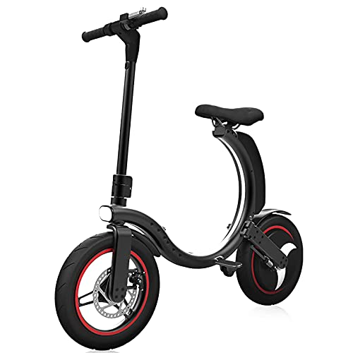 RUBAPOSM 450W Nueva Bicicleta eléctrica 7.8Ah batería de 14 Pulgadas Bicicleta eléctrica Plegable de la Bicicleta 30km Rango
