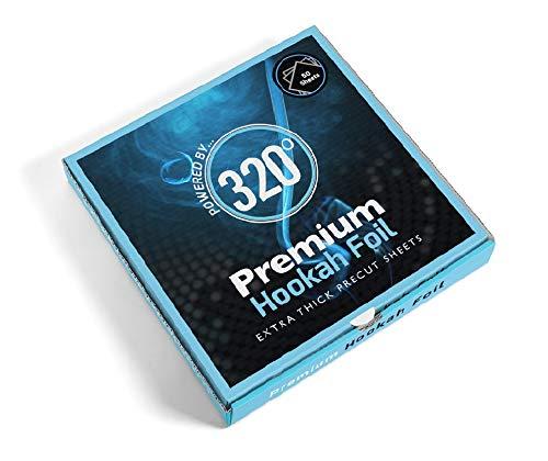 320° Premium Hookah Shisha Aluminium folie - Extra Dikke Precut Vellen - 50 Vellen - 40 Micron Dikke
