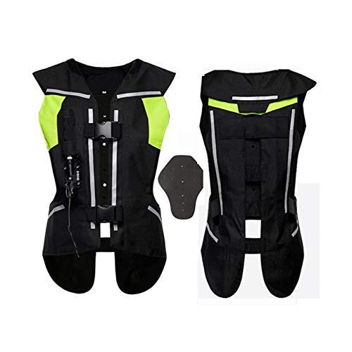Equipo Para Montar Con Chaleco Airbag Chaleco De Moto Con Airbag (Negro, Verde, S-2XL) Equipo de ciclismo (Color : Black, Size : XX-Large)