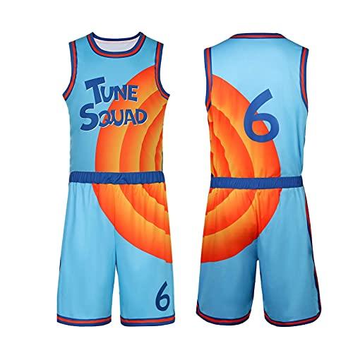 LOADREAM Maillot de basketball pour homme # Space Jam Jerseys Tune Squad - bleu - Taille L
