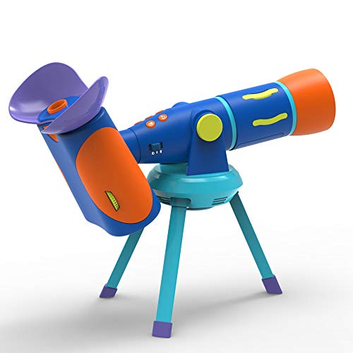 Educational Insights GeoSafari Jr. Talking Telescope Featuring Emily Calandrelli, Easter Gift, Telescope For Kids With Real Built-In NASA Images & Audio, Interactive Learning, Ages 4+