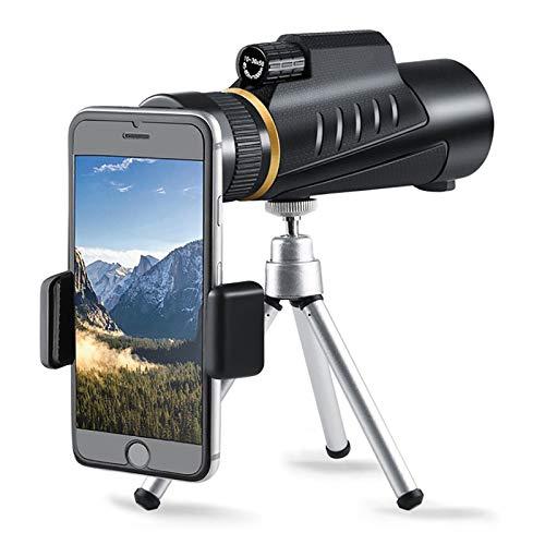 MWKL Monoculo Telescopio, 10-30X42 HD Monocular Impermeable a Antivaho Portatil con Adaptador De Soporte para Smartphone Y Trípode para Acampar Observación Aves Juego De Fútbol