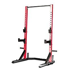 top rated CAP Barbell FM-8000F Deluxe Power Rack, Red 2021